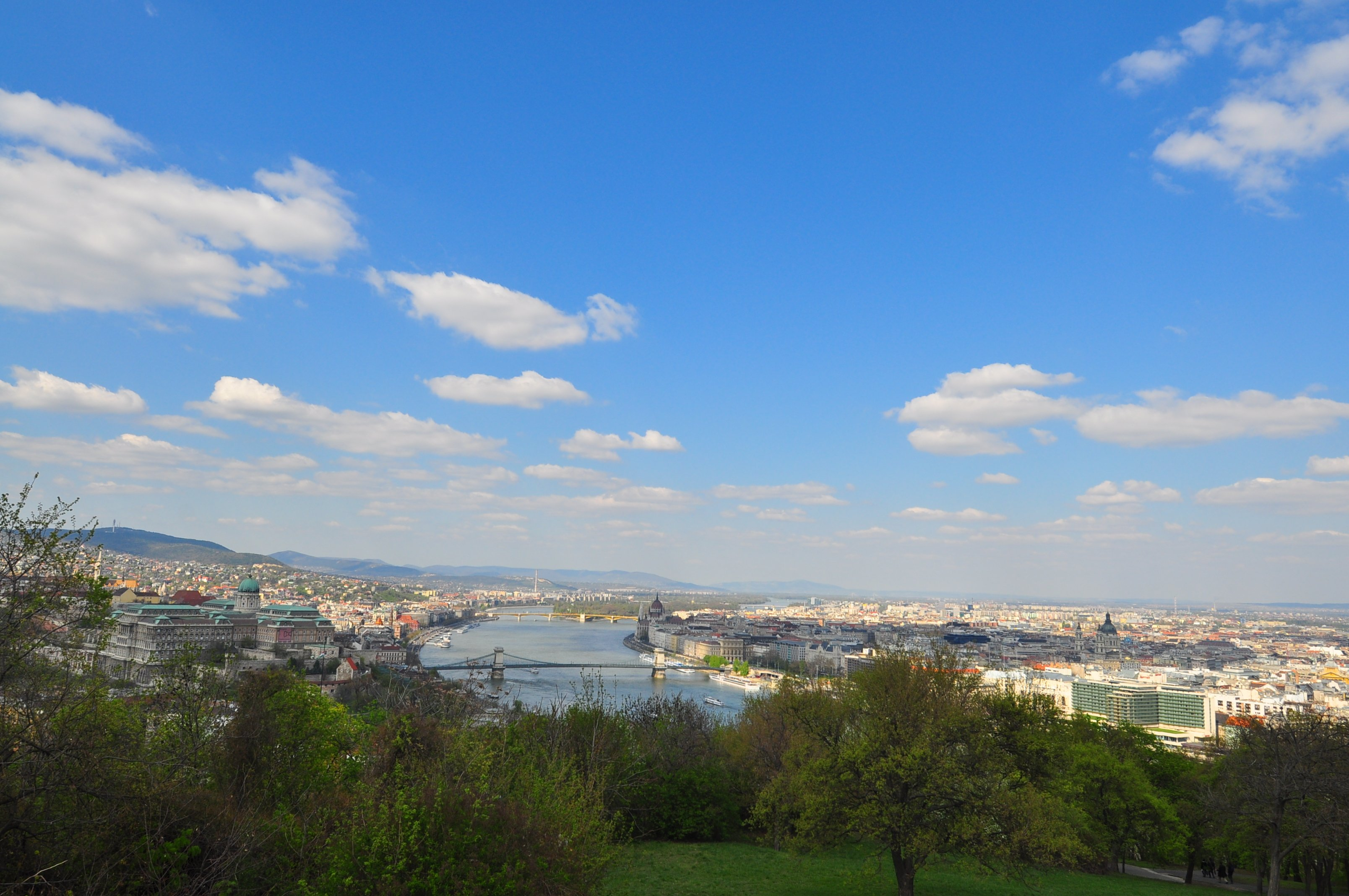 View over Budapest from the Gellert Hill