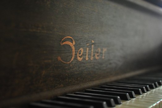 Logo of the Seiler Piano abandoned in the Sanatorium E