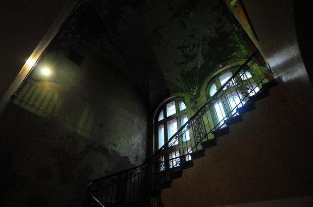 Staircase leading up to the first floor of the Stadtbad