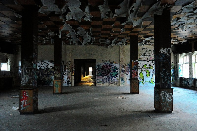 abandoned factory room