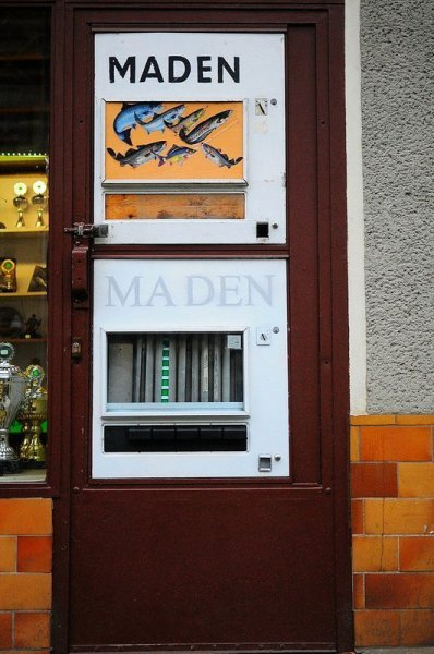 The Madenautomat next to the Angelhaus Koss