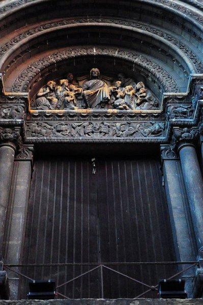 bon pasteur entrance portal in lyon france
