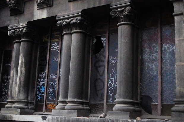 graffiti and broken windows