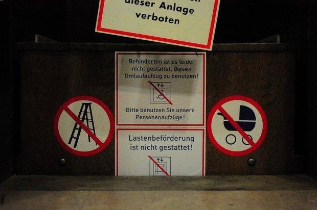 paternoster warning signs
