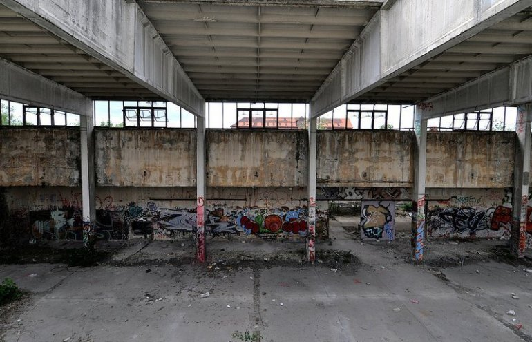 empty factory hall