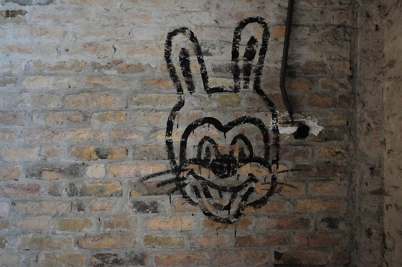 russian bunny graffiti
