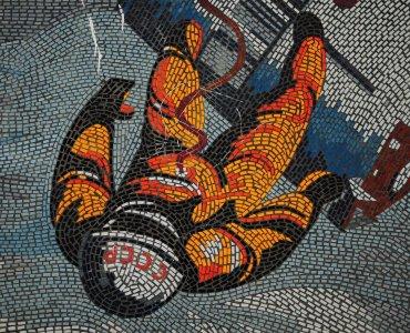 cosmonaut mural potsdam