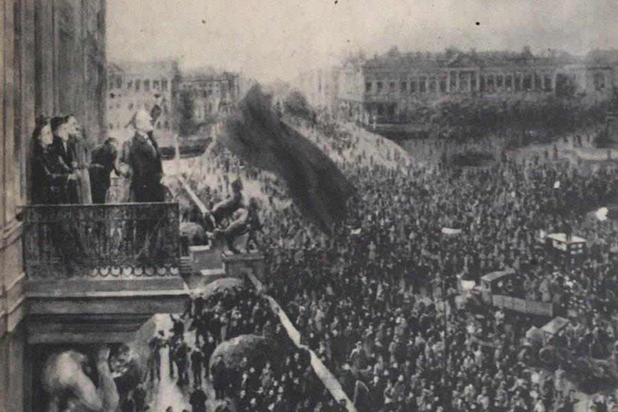 Karl Liebknecht sozialistische repubilk balkon portal stadtschloß berlin