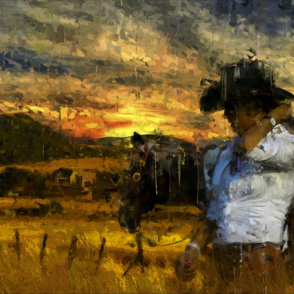 High Plains Cowgirl Digital Painting