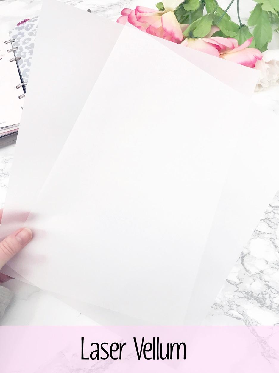 digital dash by planner press laser vellum paper translucent