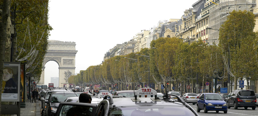 Strolling on the Champs Elysee