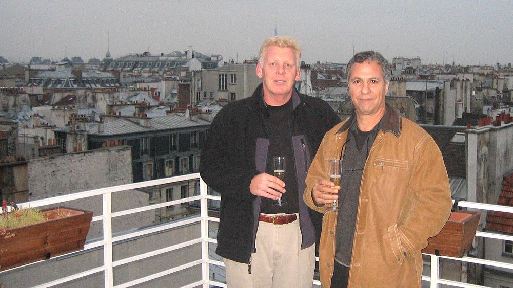 Peter Gerritsen, TAAN President, and Mark Vitullo at Mr. Joe's rooftop cocktail reception