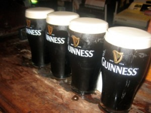 6 pints of guinness