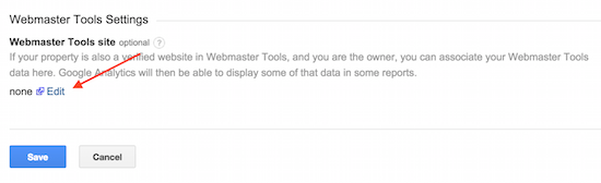 link webmaster tools and google analytics