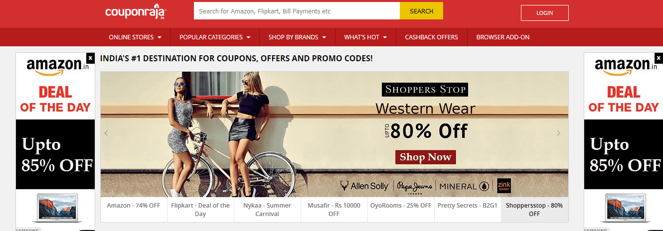Top coupons websites to follow in india digital dimensions couponraja is another major coupons site that provides the latest and updated coupon codes from the finest online retailers in india fandeluxe Choice Image