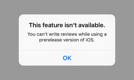 Apple restricts App Store reviews in prerelease iOS versions