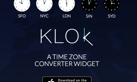 Review: Klok (Time Zone Converter Widget for Notification Center)