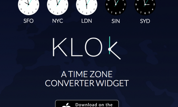 Review: Klok (Time Zone Converter Widget for Notification Center)