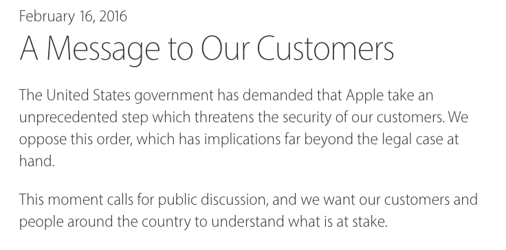Apple vs. FBI & The Need for Encryption