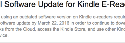 Reminder to Update Your Pre-2012 Kindle's