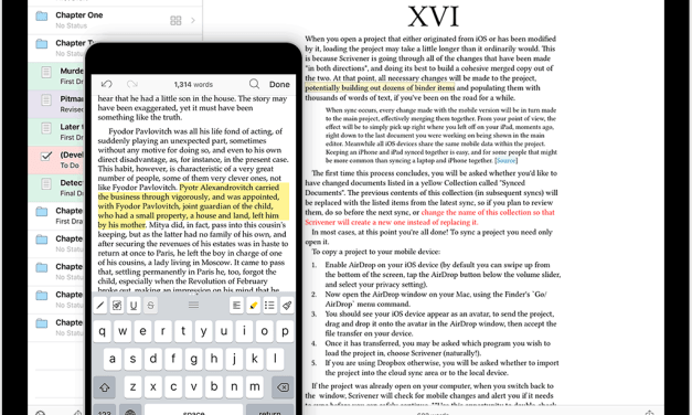 The Best Writing App Scrivener Makes it's way to iOS (Sponsor)
