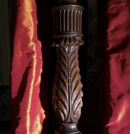 Detail photo of a bedpost from the bed in John Payne Todd's Room at Montpelier.
