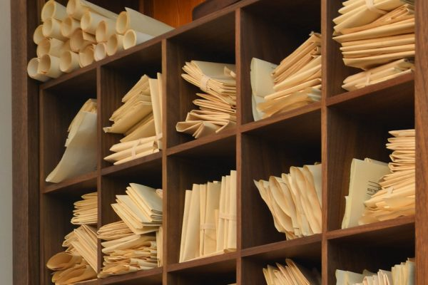 James Madison filed his correspondence in alphabetical pigeonholes.