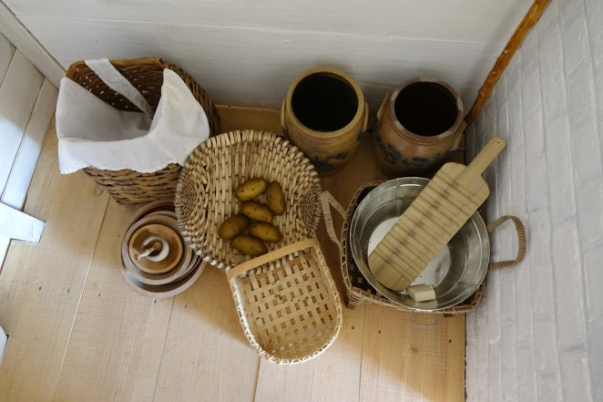 Examples of baskets on display in the South Yard dwellings.