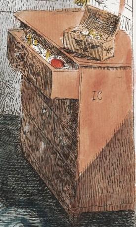 A scene in the Gamester, 1792.