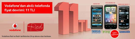 Vodafone 11 TL' ye telefon kampanyası