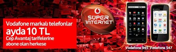 Vodafone telefon ayda 10 TL