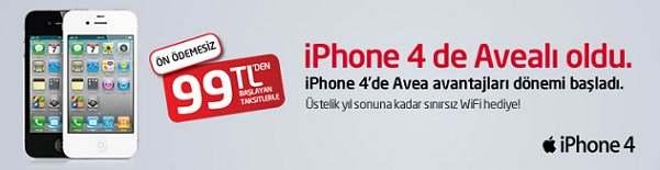 Avealıya iphone 4 ayda 99 TL