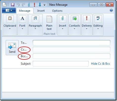 Cc ve Bcc mail nedir