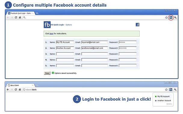 Hızlı çoklu facebook eklentisi