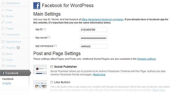 WordPress için yeni facebook eklentisi