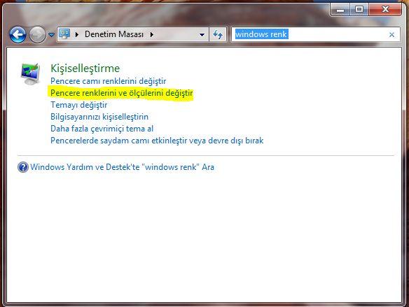Windows etkin pencere yazı tipi değiştirmek