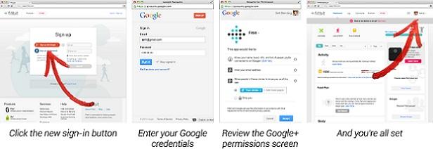 Google plus Sign-In bağlantısı