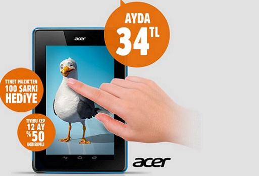 Ttnet Acer tablet kampanyası