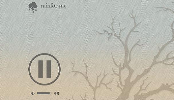 Her an yağmur sesi dinleyin