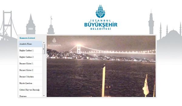 İstanbul'u kameralarla canlı izleyin