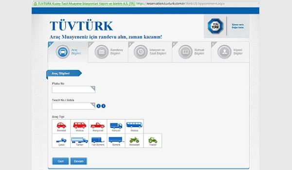 Tüvtürk'den ücretsiz randevu almak