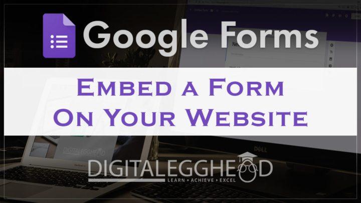 Google Forms Tips - Header - Embed Form on a Website