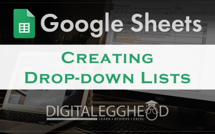 Google Sheets Tips - Header - Create Drop Down List Menu
