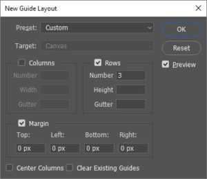 Photoshop Guide Layout Box