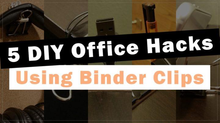 Office Hacks Binder Clips Header