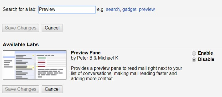 Gmail Tips - Enable Preview Pane - 03 Search