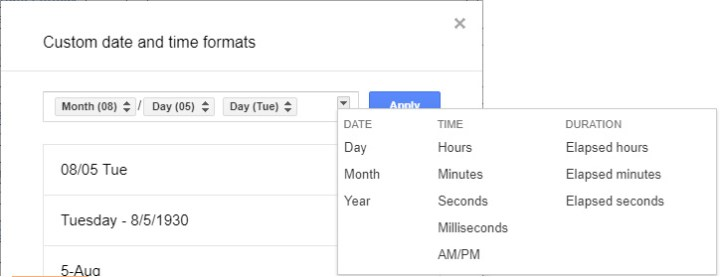 Google Sheets - Custom Date Format - 06b Add Element