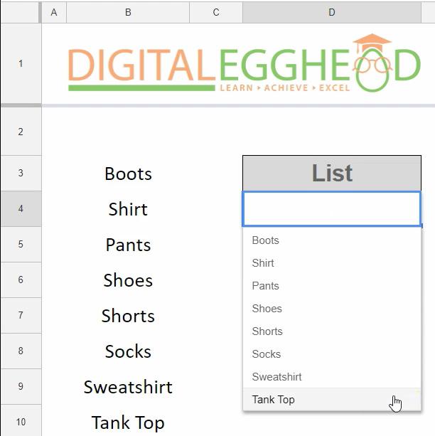 Google-Sheets Dropdown List 06-Dropdown-List