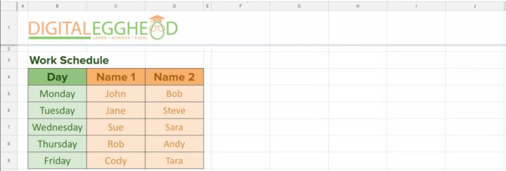 Google Sheets - Transpose 01 Example