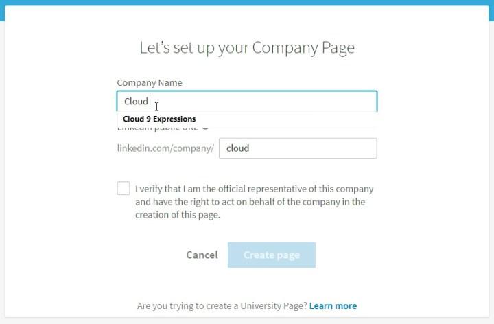 LinkedIn Company Profile 03-Setup-Page